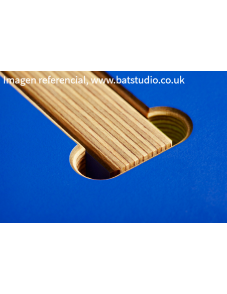 detalle del sistema de armado muebles cafetería, BAT Studio